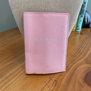 Tiffany & Co pink leather passport holder